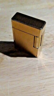 Authentic ! Gold Plated ST Dupont Lighter Ligne 1 Small Version -Diagonal Lines