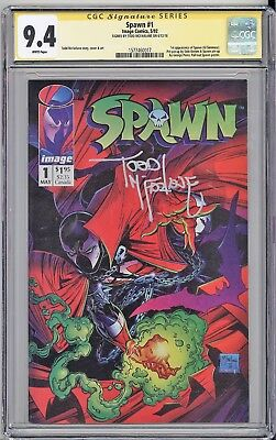 Spawn #1 CGC SS 9.4 Todd McFarlane signed key issue first SPAWN IMAGE comics