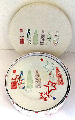 Zakee Shariff 3 Coke Bottle Dessert/Salad Plates 1996