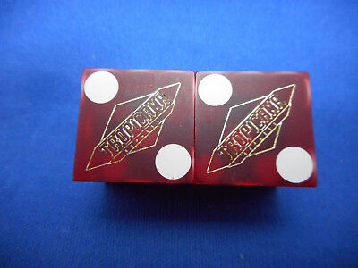 Pair of TROPICANA EXPRESS Laughlin, NV Casino Dice - Matte Red, #s 0231