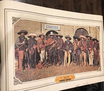 "Bianchi Leather Advertisement Poster ""The Banditos Wear"""
