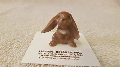 Hagen Renaker Rabbit Lopear Figurine Miniature Collect New Free Shipping 00861
