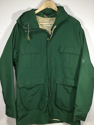 Vintage LL Bean Baxter State Parka Shell Men's M Mountain Jacket Green USA Made