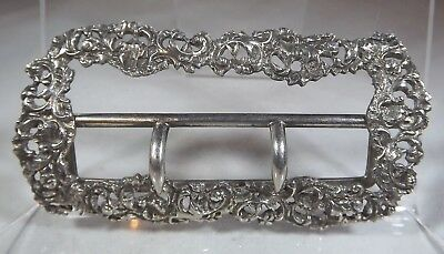 Antique Victorian Sterling Silver Belt Buckle Birmingham 1893 Henry Matthews