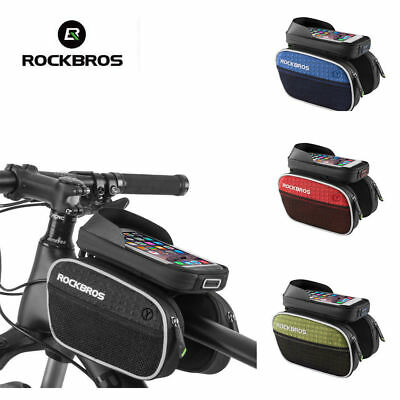 RockBros Cycling Frame Rainproof Bag Touch Screen Top Tube Bag Phone Holder