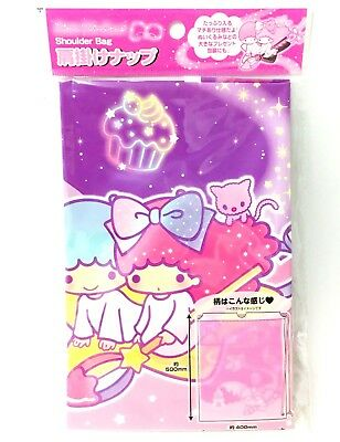 Little Twin Stars Shoulder Bag Drawstring Clothes Organizer Travel Sanrio Japan