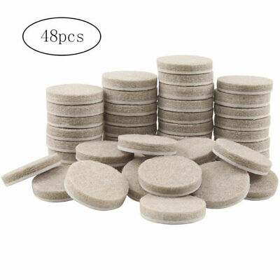 48pcs 1in Self Adhesive Felt Furniture Pads Floor Wall Chair Scratch Protection