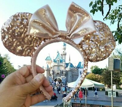 SOLD OUT - Authentic Rose Gold Disneyland  Ears Disneyland + Map