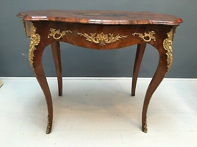 Fine Napoleon III 19th Century Walnut & Marquetry Centre / Writing Table