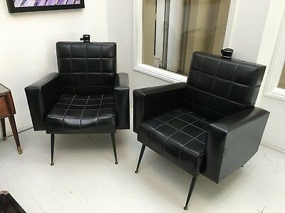 Pair of super stylish and original 1950's armchairs. Ideal for restoration