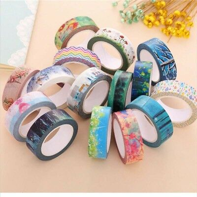 10M DIY Washi Tape Sticker Decor Roll Paper Masking Adhesive Tape Crafts Gift