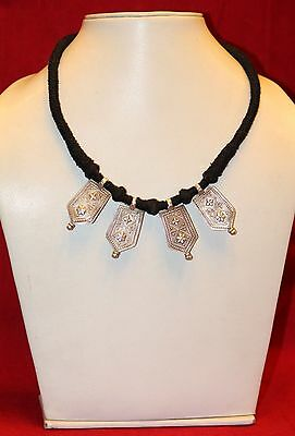 Necklace Pendant Silver Silver Flower Motif Tribal Jewelry Collectible India