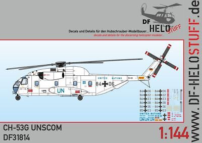 Decals Sikorsky CH-53G UN UNSCOM United Nations Irak 1:144