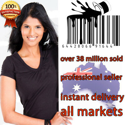 1000 UPC EAN Code Numbers Barcodes Bar Code for Amazon AU US EU, all other