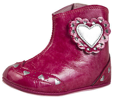 Agatha Ruiz De La Prada Infants Leather Boots Girls Easy Fastening Party Booties