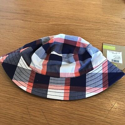 Joules New With Tags Check Baby Sunhat 0-6 Months Reversible