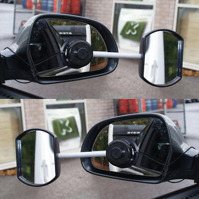 Suck it & See Twin Pack Convex & Flat Extension Car Towing Mirrors - Suction Fit