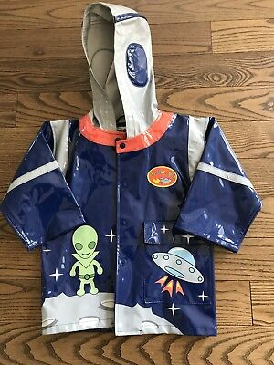 Kidorable Toddler Boys Space Theme Rain Jacket Size 2T
