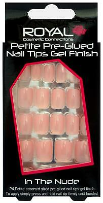 Royal Cosmetics In The Nude Peach 24 Petite Pre-Glued Gel Finish False Nails