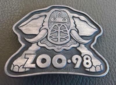 Vintage RARE 98 KZEW The Zoo Freak Belt Buckle Dallas Fort Worth DFW