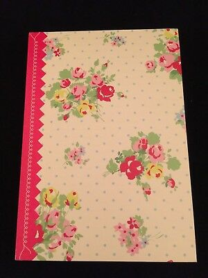 Cath Kidston Journal Notebook Stationary Diary Book Roses Floral Bouquet Dots