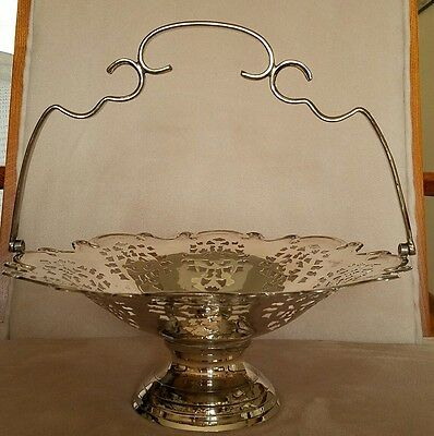 International Silver Co. Hand Made In India Silver Plate Basket W/ Handle