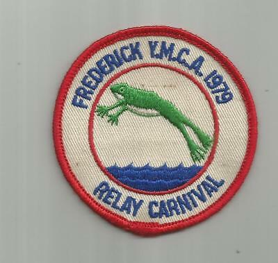 1979 Frederick Md Ymca Swimming Relay Carnival Teak Patch Leap Frog Jumping