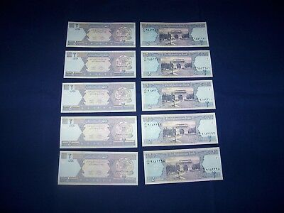 Lot of 10 Afghanistan Bank Notes 2 Afghani