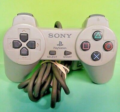 Official Original Sony Playstation 1 PS1 Wired Controller Gray SCPH-1080 Tested