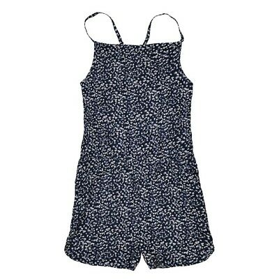 LA REDOUTE GIRLS PRINTED DRAPING PLAYSUIT NAVY AGE 10 YEARS NEW (ref 406)