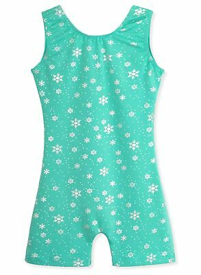 DAXIANG One-Piece Gymnastics Leotard Shiny Snowflake Biketard for Little Girl...
