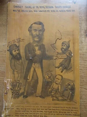 Victorian c19th Political Print Cartoon NEWCASTLE 1878 S Northumberland Election