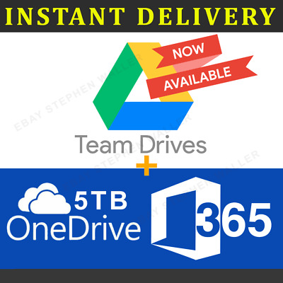 ✔️Google Drive Unlimited For Existing ACC NOT EDU + One Drive 5TB + Office 365
