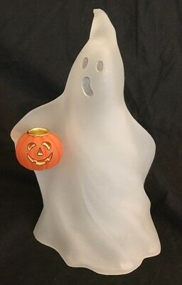 Department 56 Ghost Frosted Acrylic 12 Inch Jack O Lantern Candle Stick Holder