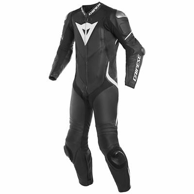 Dainese Laguna Seca 4 Leather 1-Piece Race Suit Black/Black/White