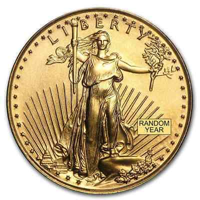1/10 oz Gold American Eagle BU (Random Year) - SKU #4
