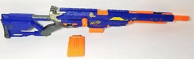 Nerf N-Strike LongStrike CS-6 Sniper Rifle with Barrel Extension and 2 Clips