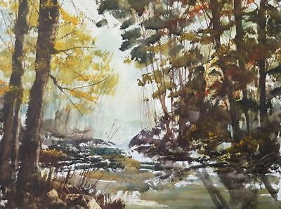 Riverside Original Art Watercolour Painting by Steven Cronin