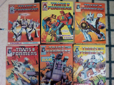 Transformers UK Marvel Comics x5 complete your collection!