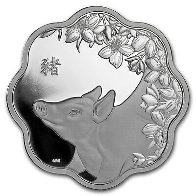 2019 Canada Silver $15 Lunar Lotus Year of the Pig Proof - SKU#173427