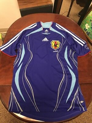 eb1ced268 Adidas JAPAN 2006 World Cup S Home Soccer Jersey Football Shirt JFA Nihon  Blue