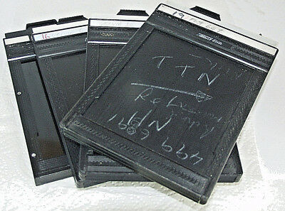 Fidelity Double-Sided 5x4 Film Cut Holders x3 and (1) Toya Holder.