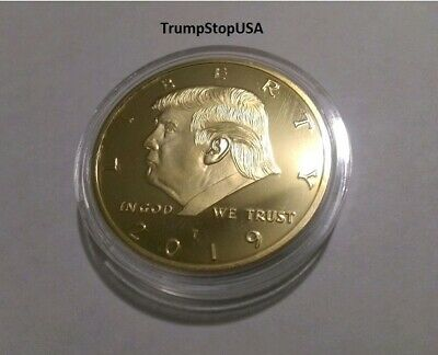 Donald Trump 2019 Gold Challenge Coin 40 MM Proof