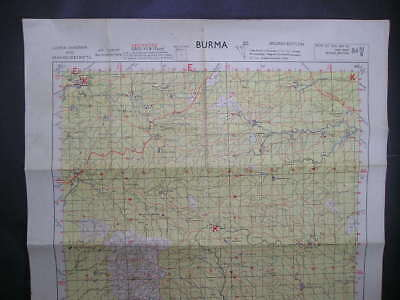 No(2) c1944 WWII 14th Forgotten Army Burma Campaign Map Chindwin & Sagaing Dist