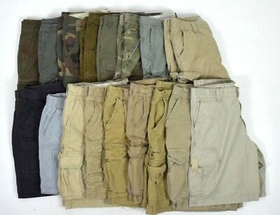 Lot 17 Cargo Shorts Mens 36 Camo Khaki Tan Brown Gray Nautica Aeropostale etc