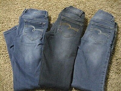 Justice Simply Low jegging lot, 10 slim, 3 pairs, EEUC