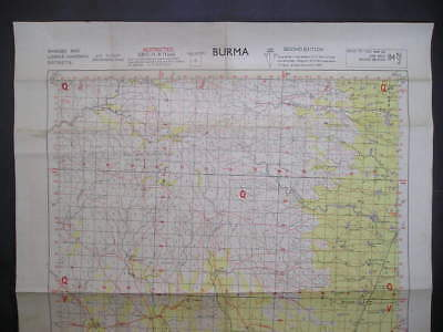 No(5) c1944 WWII 14th Army Burma Burmese Map Low Chindwin & Shwebo District
