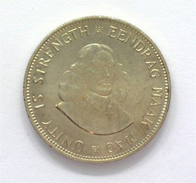 South Africa 1962 Silver 20 Cents  Gem+ Uncirculated