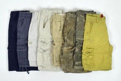 Lot 8 Cargo Shorts Men 32 Camo Khaki Tan Blue Green Camo Columbia Hollister etc