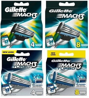 Gillette Mach3 Turbo 4 / 8 / 16 Pack Same Day Dispatch